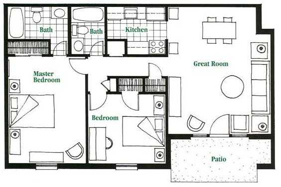 2 Bed 2 Bath Garden Apartment