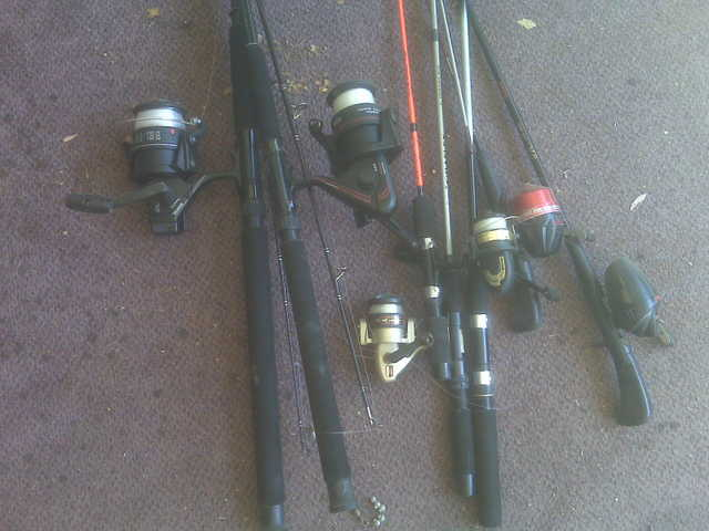 Assorted Fishing Rods & Reels