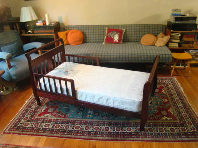 Small Wooden Bed W / Mattress - Sale!