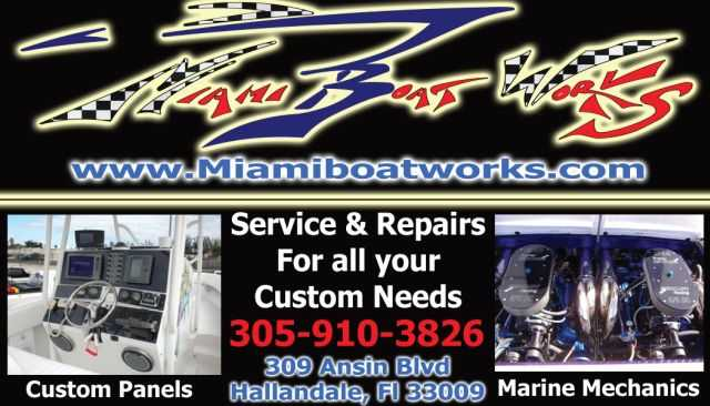 Miami Boat Works (Service & Repairs) Full Service Facility.