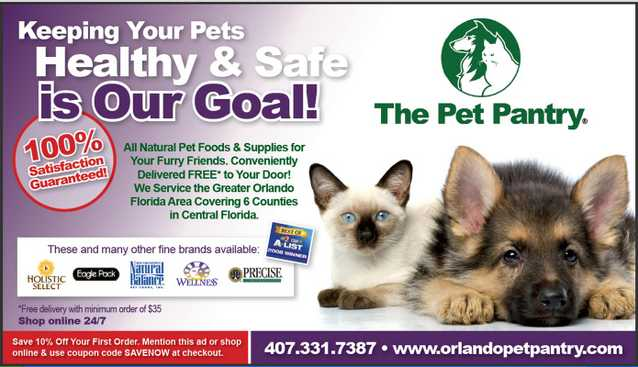 The Pet Pantry Is In Your Area!