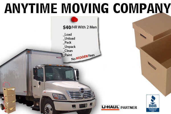 Anytime Movers $40 / Hr