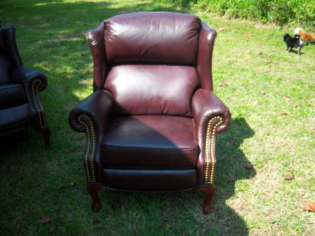 Wing - Back Leather Recliners (2) - $350