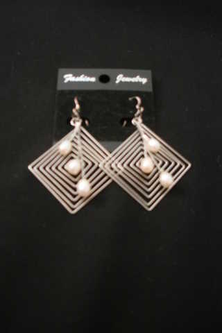 Stylish Silver - Light Pearl Earrings For 8.99 - Free Shipping