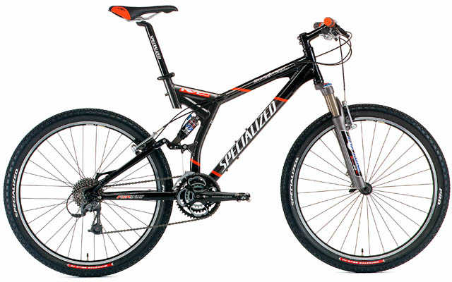 2010 Specialized Stumpjumper Fsr Exp, Test Red, Demo M =$1500