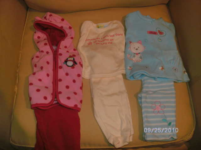 Baby Girl Clothes 0 - 9 Months, Swing, Jumperoo, Bath Tub.