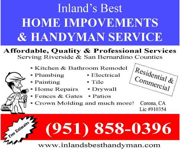 Inland's Best Home Improvements & Handyman Service