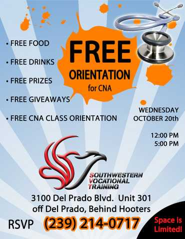 Free Cna Class Orientation Wed 10 / 20