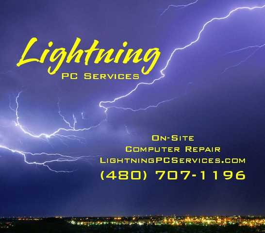 Lightning Pc Services - On Site Repairs For Home Or Business