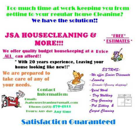 Quality House Cleaning And More