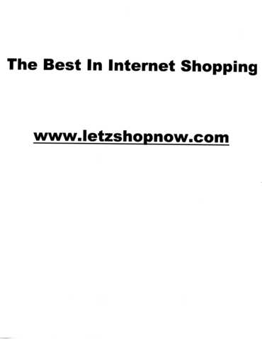 The Best Internet Shopping
