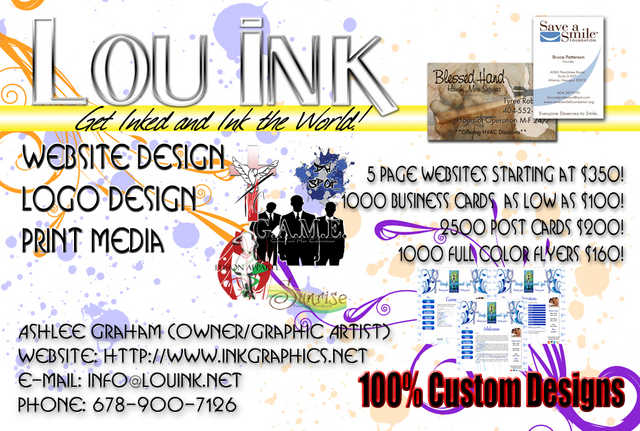 Print, Logo, Web, And Design Services, Lou Ink Graphics