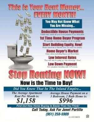 * Renters * Start Saving Your Tax Dollars Now - >call For Details!
