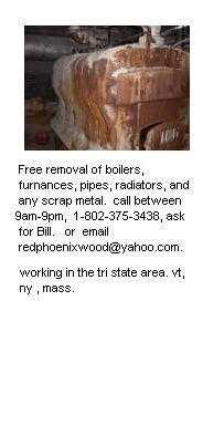 Free Removal Of Boilers, Etc.