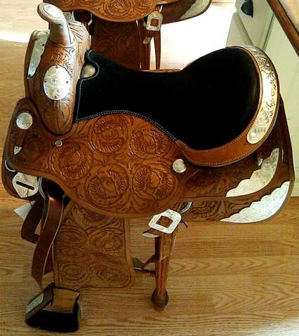 Custom Made Triple S Western Show Saddle