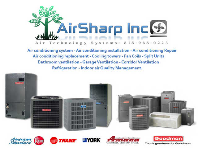 Air Conditioning Replacement And Maintenance Agoura Airsharp Inc
