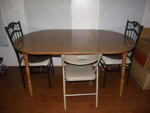 Wood Kitchen Table With 2 Chairs