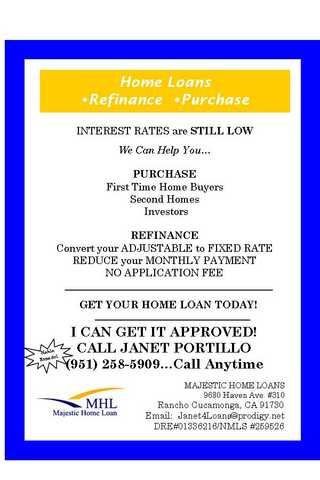 Home Loans - > Low Interest Rates, Easy To Qualify !