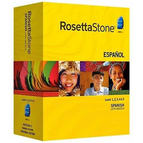 Rosettastone Spanish Latin America V3 Level 1,2,3,4 & 5 (Windows)