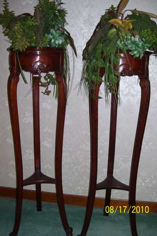 Plant Stands (Antique) - (2)