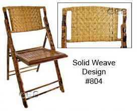 Bamboo Folding Chairs - 2 Styles Available