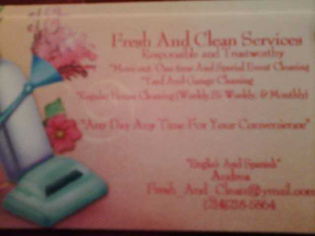 * Fresh And Clean Services *