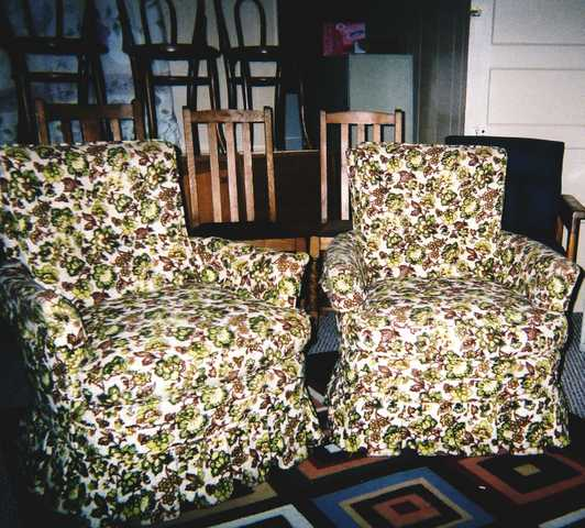 2 Flower Pattern Sitting Room Chairs - $90