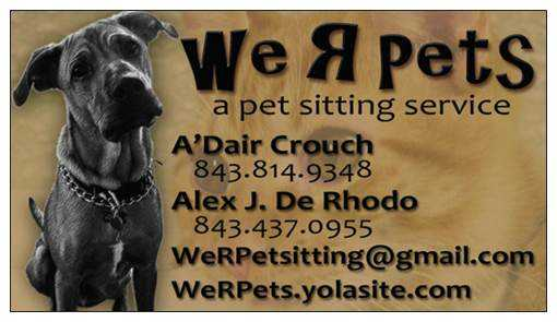 We R Pets:a Pet Sitting Service