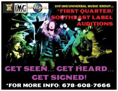 Uvf / Img / Universal First Quarter Label Auditions!