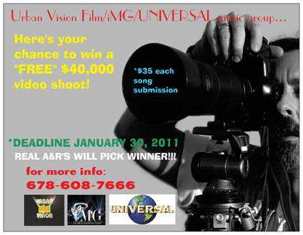 Got A Hot Single / Song / Demo? Win A Free $40,000 Video Shoot!
