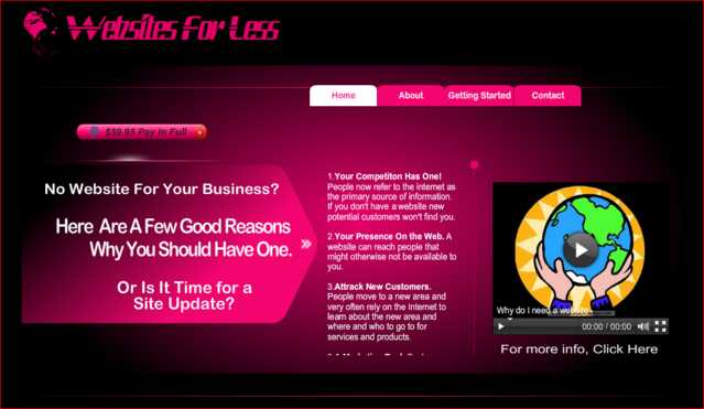 Business And Personal Websites For $59.95