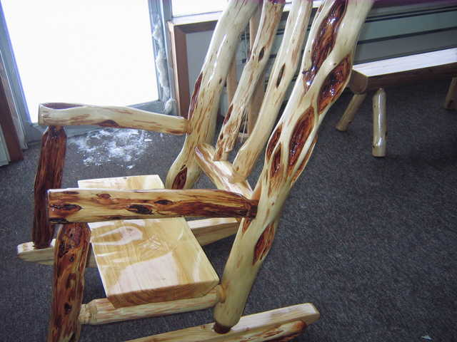 Diamond Willow Rocking Chair