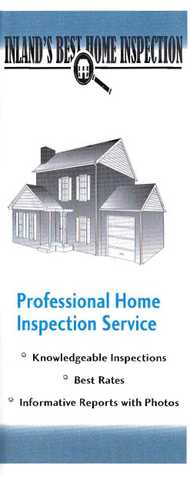 Inland's Best Home Inspection - > Thorough & Experienced