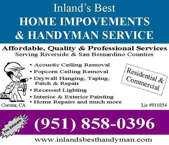 Acoustic Ceiling & Drywall Repair Specialist - > Inland's Best