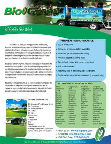 Lawn And Landscape Fertilization Services