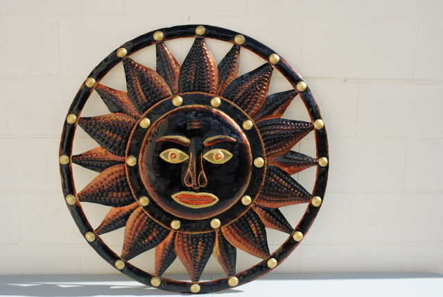 Haitian Painted Metal Art