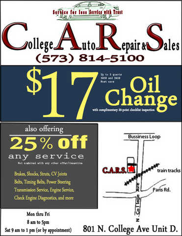 17 Dolar Oil Change And 25% Discount On All Auto Services