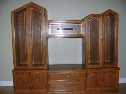 Oak Wall Unit