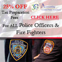 25% Off For Ny Area Firefighters & Police Officers On Tax Prep