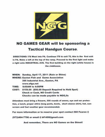 Tactical Handgun Course
