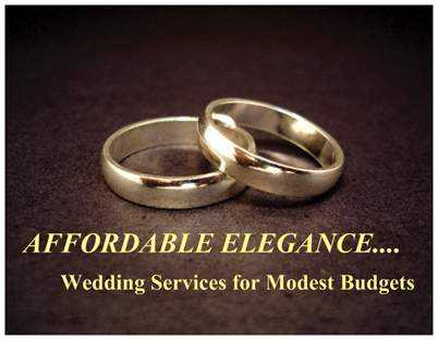 Wedding Services For Modest Budgets