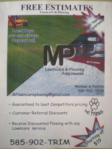 Mp Lawn Care & Plowing