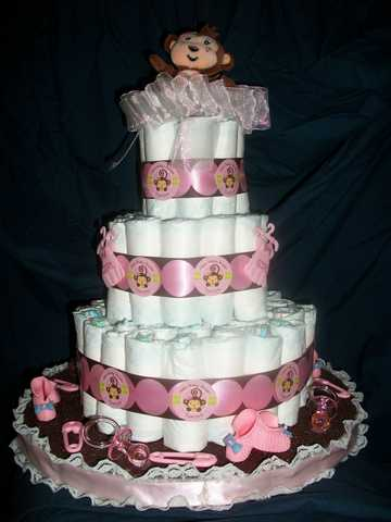 Baby Diaper Cake Creations