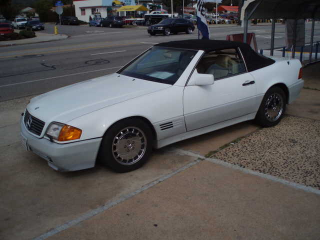 1991 mercedes benz sl500 coupe convertible white and tan for 1991 mercedes benz 500sl convertible
