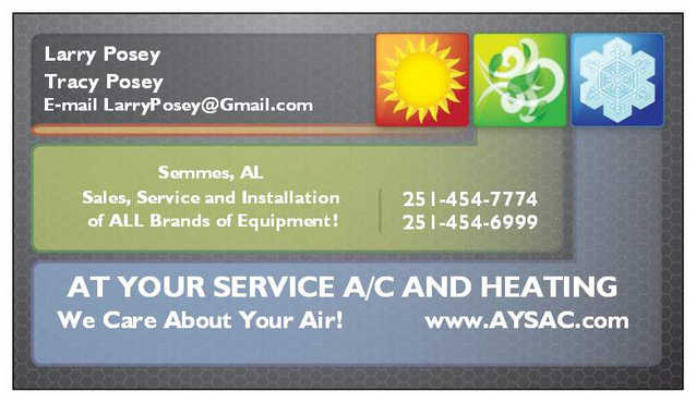 At Your Service Ac And Heating Mobile And Semmmes Alabama