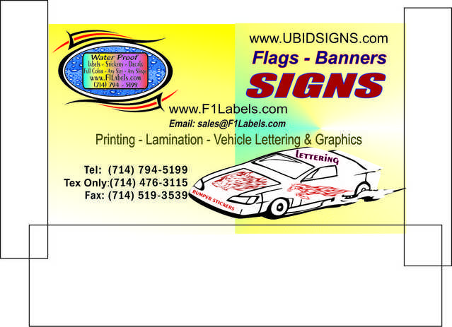 Signs - Banners - Decals - Labels - Stickers