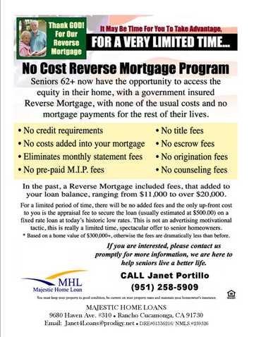 Attn: Seniors! Get Rid Of Your Mortgage Pmt, Forever!