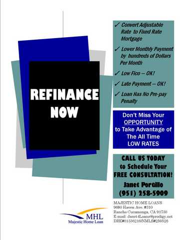 Refinance Now! Convert Adjustable Rate To Fixed Rate