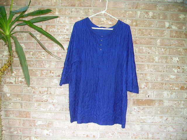 Bright Blue Plus Size Top