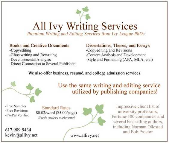 Professional Writer / Copyeditor___published Phd